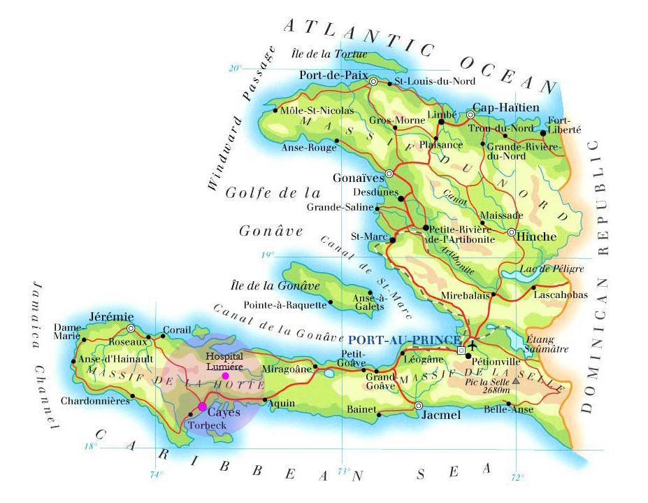 Haiti Karte.Map Haiti His Heart For Haiti