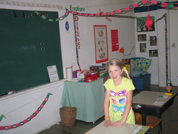Grace is now in the 2nd grade where she joins a class of seven girls and one boy!