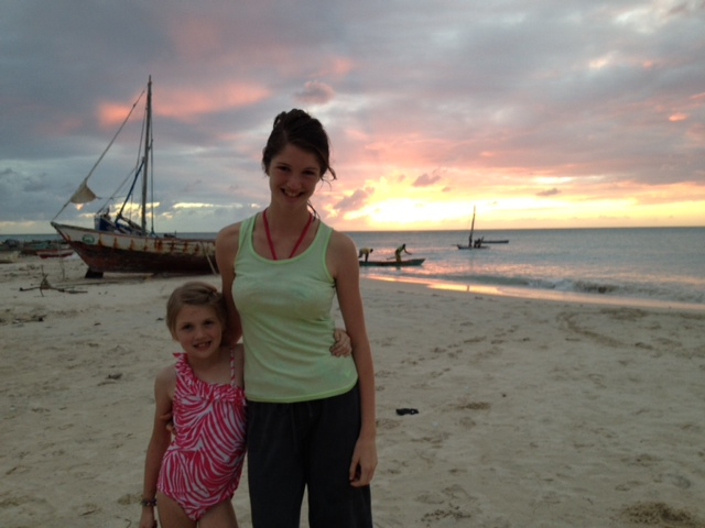 A Haiti sunset at Port Salut framing a fishing scene right out of the Bible!