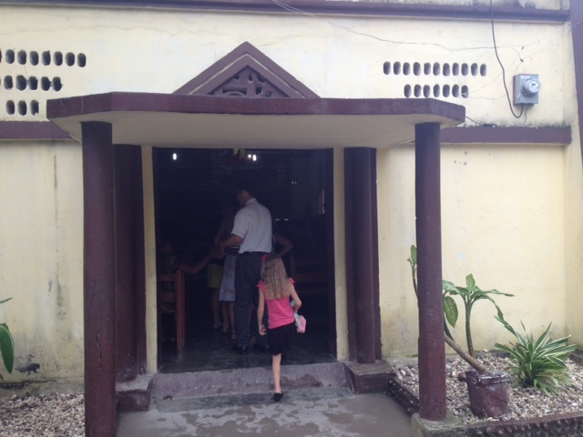 This photo speaks to me of our children's willingness to serve in Haiti with us. Here Grace is following us into a 2-hour church service which she will get absolutely nothing out of!
