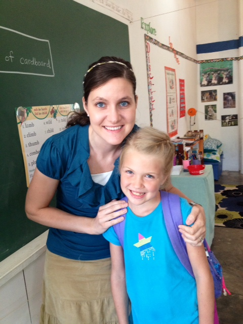 Mrs. Leger has been a wonderful teacher as she brought Grace up to speed with the rest of the class!