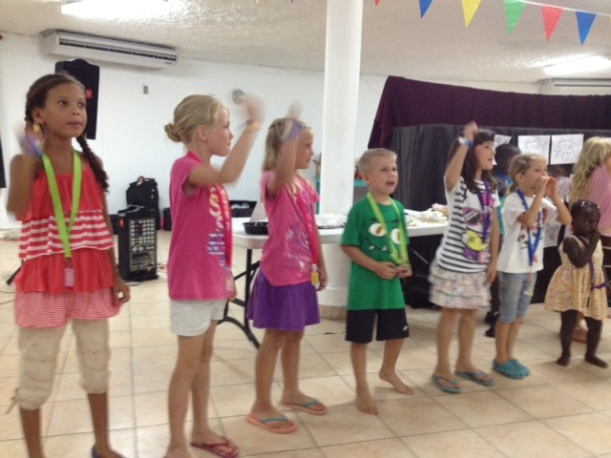 The Bible School program was set to music but one song was performed in sign language!