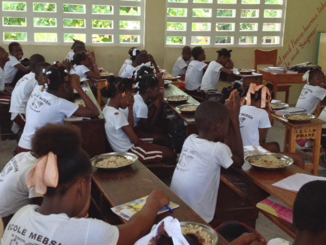 Everywhere you see such thankfulness for the food!