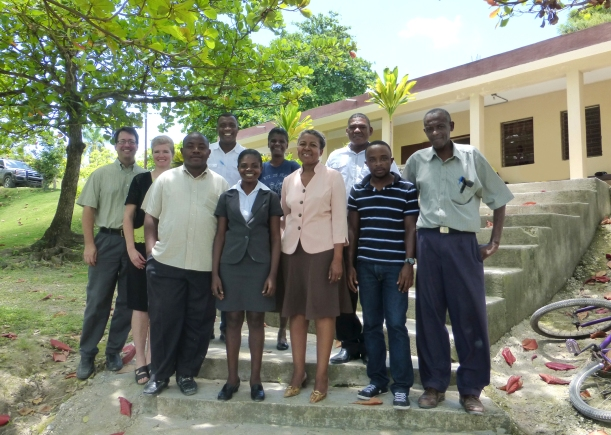The staff of the MEBSH Child Care department in Haiti. We have found them to be such lovely people!