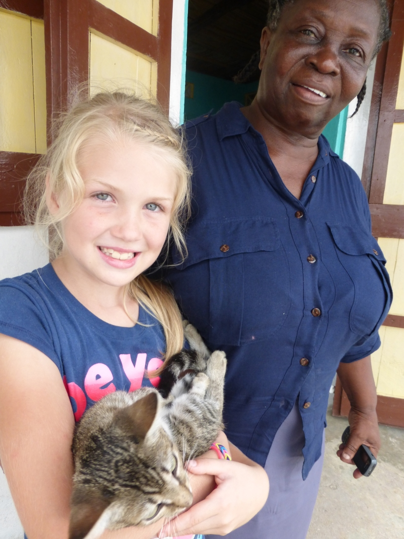 This little kitty was the perfect companion for Grace when she needed something to escape to. Madam Pasté is here with her.