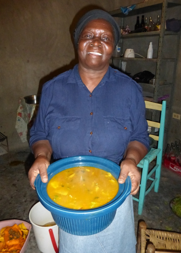 We found out quickly what Haitians love to eat for breakfast...soup!