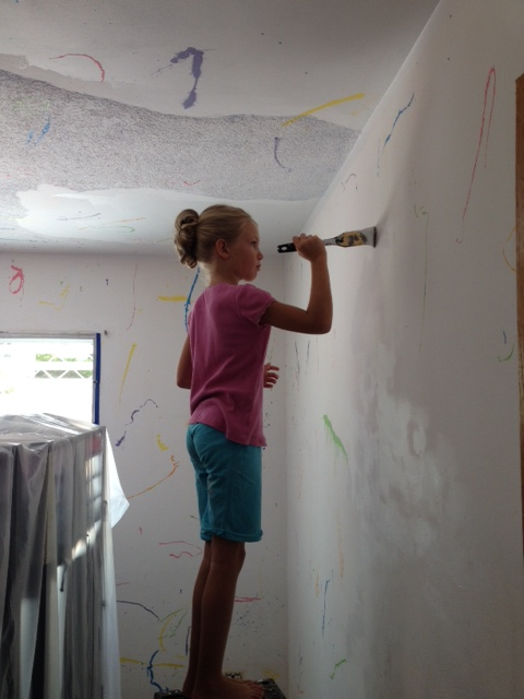 Painting is much more interesting when it is your own room!