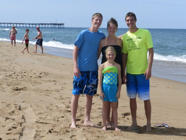 We arrived at the Outer Banks a day after a hurricane came through, but it didn't affect the waves any.