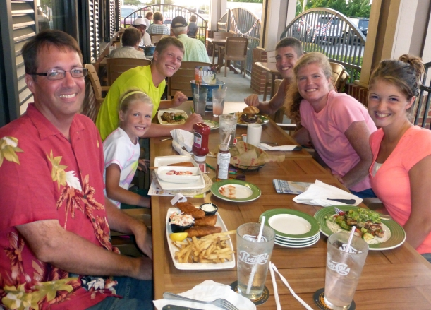 Choices, choices! Restaurants and menus had so many choices...