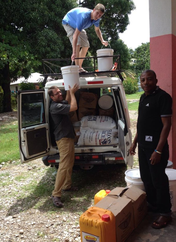 Most Haitians feed their children once a day. What a blessing to have a part in delivering a child's second meal!