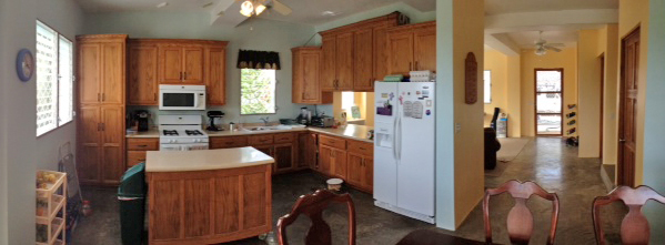 A large kitchen and dining area will provide lots of room for good times!