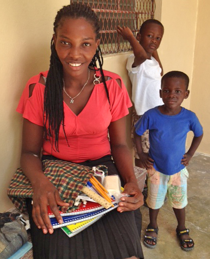 Receiving a new school kit leaves kids of all ages simply beaming!
