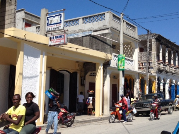 Here is one of the grocery stores on the main street of Les Cayes.