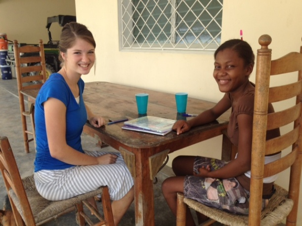 A neighborhood girl came asking for a sponsor and ended up getting both a sponsor and a regular Bible study with Trinity!