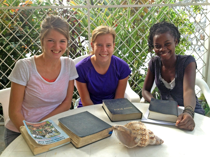 Trinity and Bree are growing in the Word together and sharing the gospel with a new friend at the same time.