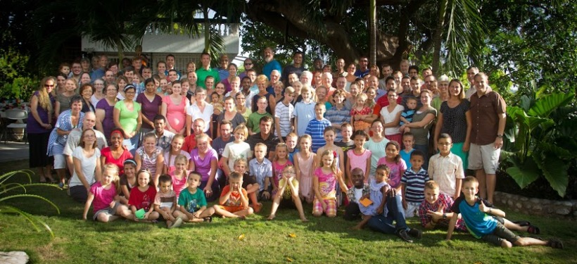 The Riggenbachs got into the annual missionary Thanksgiving photo too!