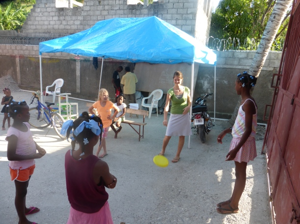 Trinity enjoys visiting several local orphanages.