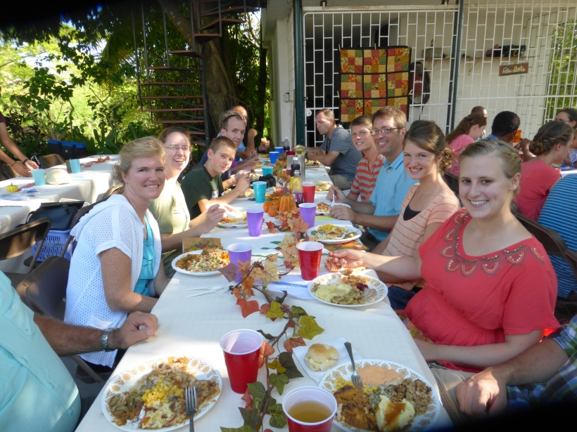 We enjoyed a Thanksgiving dinner with over 120 other missionaries who were all far from their families.