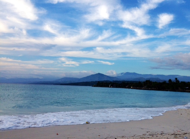 Another photo she took of the beach at Port Salut.