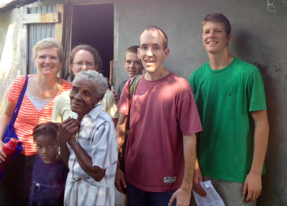 Visiting needy families and sharing food and hope with them was a special time spent together.