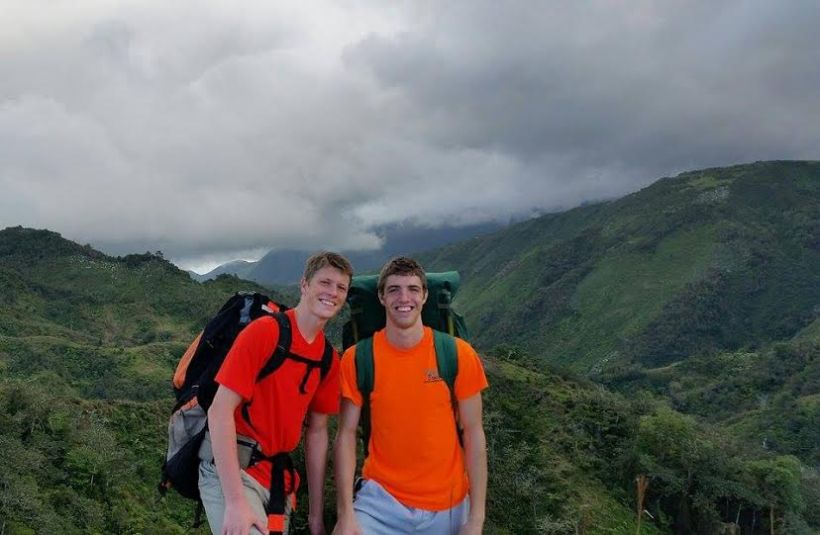 Hiking with Grant and other friends on the flanks of Mt. Makaya.