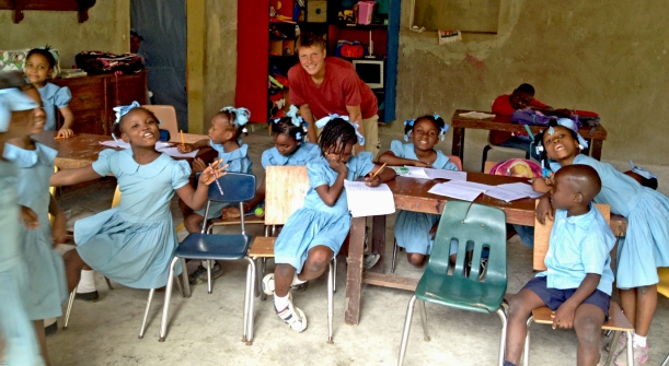 These orphans enjoy their weekly English class with Grant!