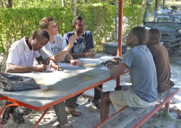These boys need to learn English, but they also need to learn Christ!