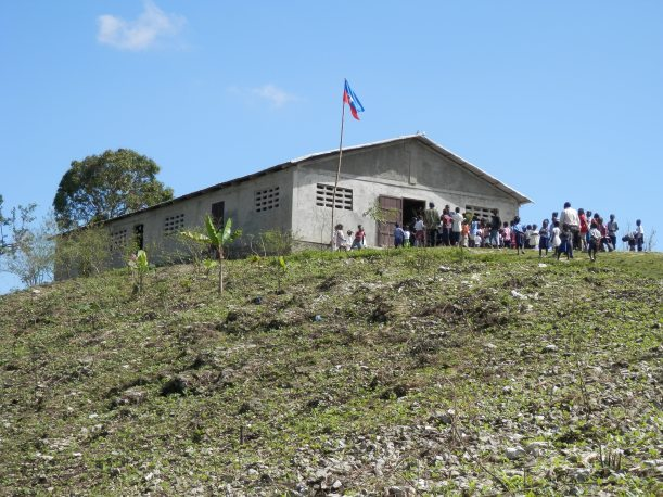 """After two and a half hours of mountain driving, and the """"road"""" turned into a path, we came to this remote school."""