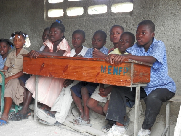 As is usually the case, many more desks are needed in remote schools.
