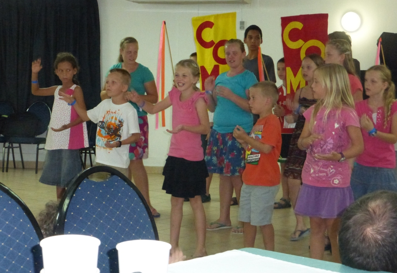 The kids presented a short program at the conclusion of their Bible School.