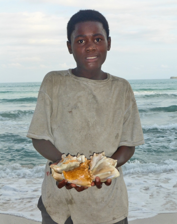 Who couldn't resist buying shells from this guy?