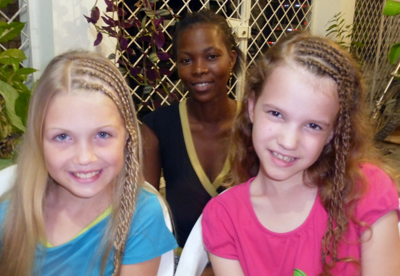 Another hit for the girls was getting their hair braided!