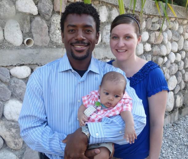 Grace's teacher, Mrs. Leger, has returned with husband Robenson-n and baby Jaden-n!