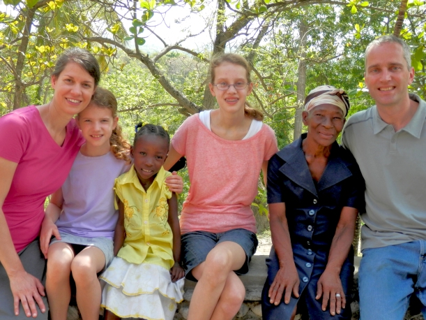 The Uhlers met their sponsored child (living with her grandma), Jolly Sophia, for the first time!