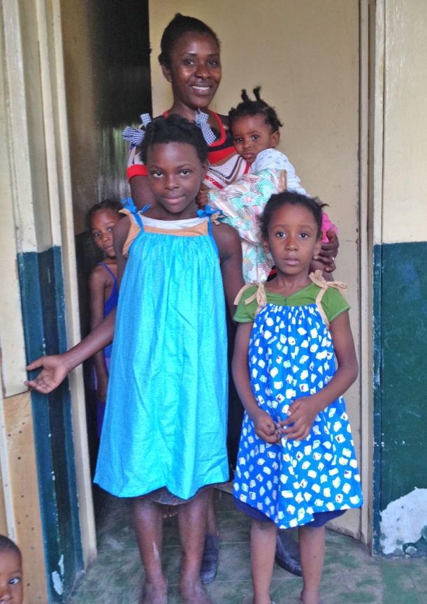 We have gotten to know this sweet family a little because the father is a translator for Housetop for Haitil