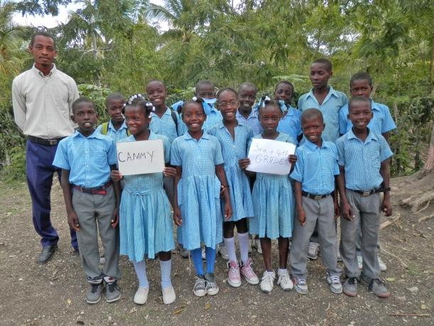 The children love have their class photo taken!