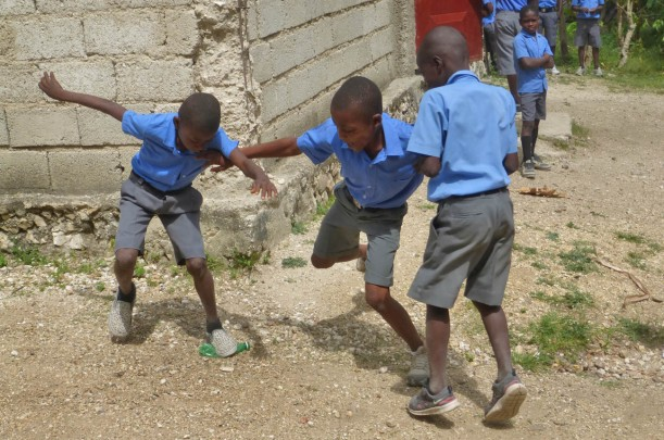 Kids can make do with anything! Remember playing kick the can?