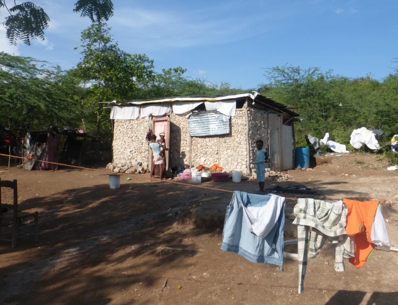 This was one of the houses we visited. Can you imagine 14 people living in this house?
