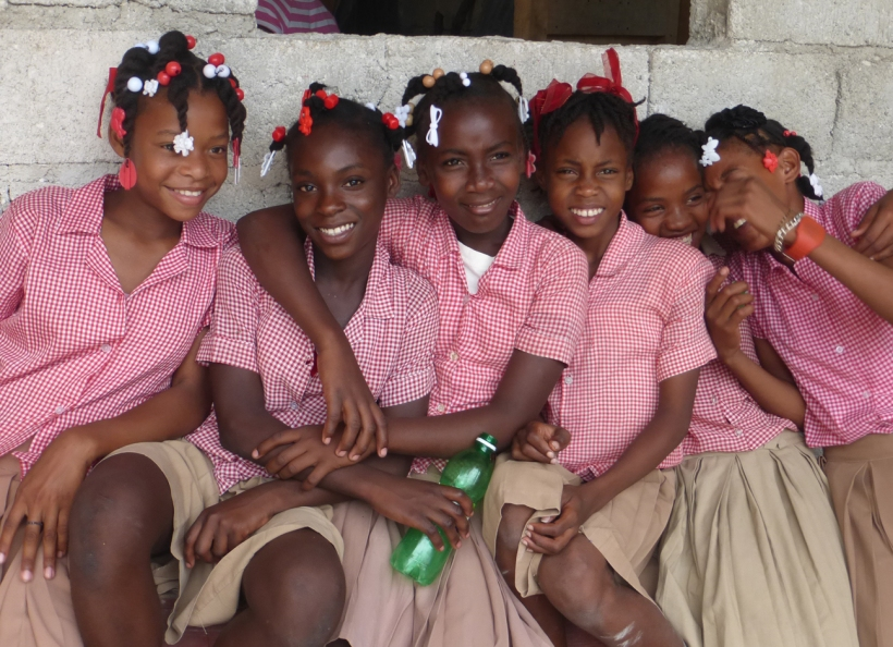 "These group of girls are from ""Zabo"" HCH school.  I think they thought we were interesting!"