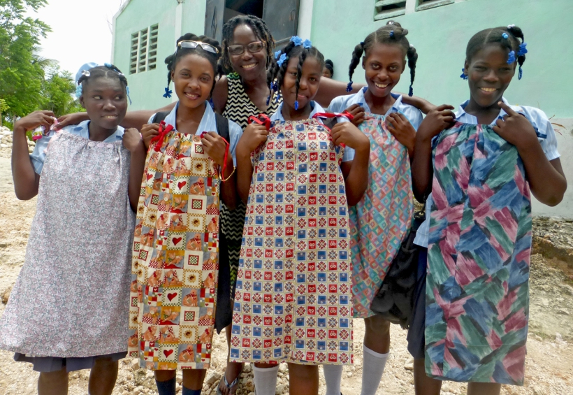 Group of high school girls with their new dresses!