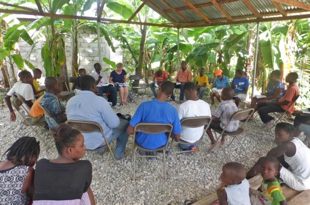 Thursday afternoon Bible Study in a Simon neighborhood.