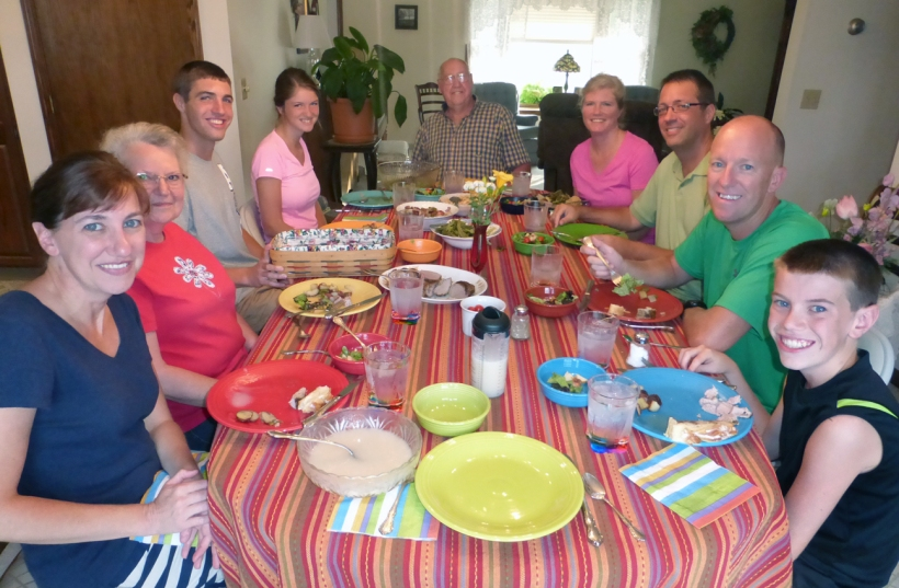 The farewell meal the Hartzlers and Gucker families prepared for us!
