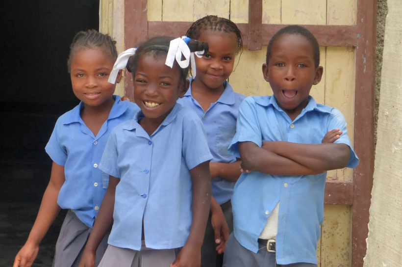 Typical Haitian school children!