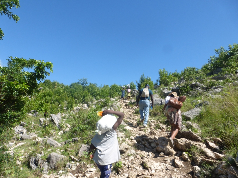 It was a little treacherous! We passed many people, horses and pack mules on the path!