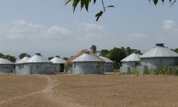 Grain bin villages! These homes are earthquake and hurricane proof.