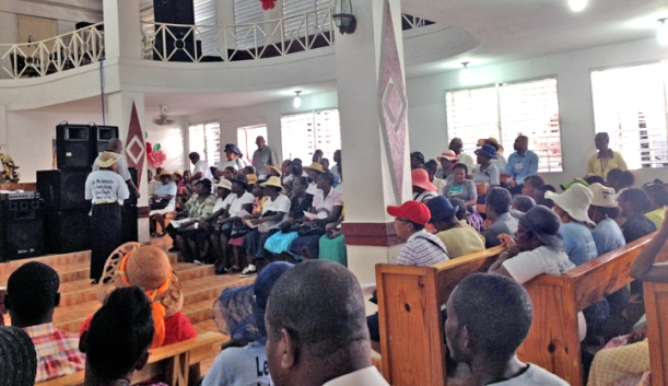Over 200 people showed up at MEBSH 1st Baptist in Les Cayes to share the gospel door to door for two days!