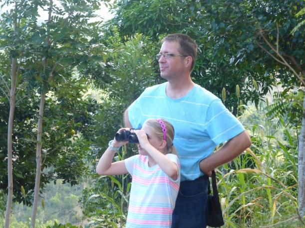 New binoculars make hiking a lot more interesting!