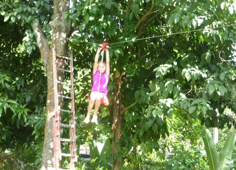 Everyone had to try the zip line!