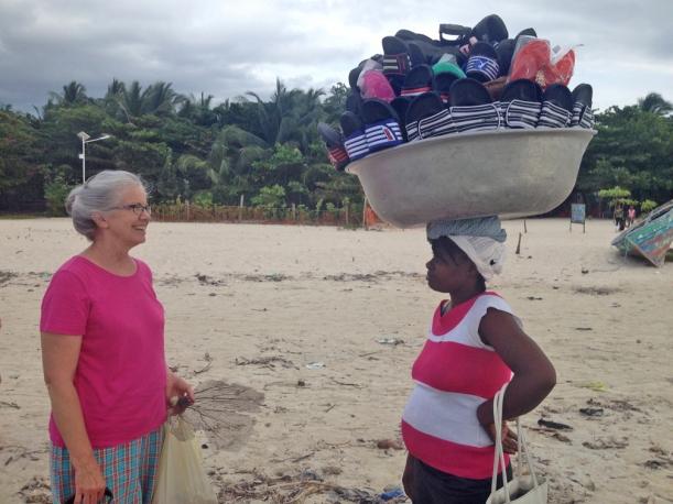 A beach vendor finds Brenda!