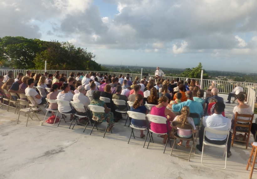 Over 100 made the effort to attend the sunrise service on our roof!